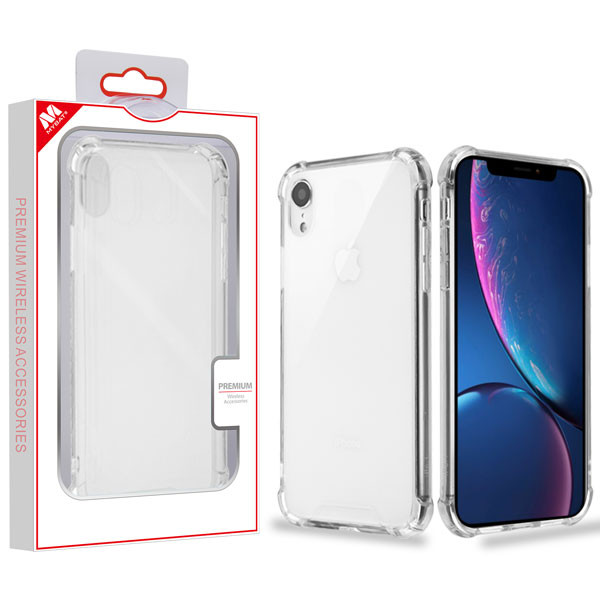 MyBat Sturdy Gummy Cover for Apple iPhone XR - Highly Transparent Clear / Transparent Clear
