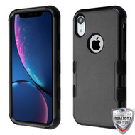 MyBat TUFF Hybrid Protector Cover [Military-Grade Certified] for Apple iPhone XR - Natural Black / Black