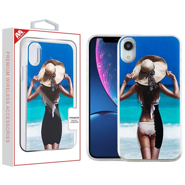 MyBat Quicksand Hybrid Protector Cover for Apple iPhone XR - Summer Girl