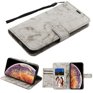 MyBat Marble MyJacket Wallet with Extra Card Slots for Apple iPhone XS Max - Gray