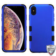 MyBat TUFF Hybrid Protector Cover [Military-Grade Certified] for Apple iPhone XS Max - Titanium Dark Blue / Black