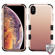MyBat TUFF Hybrid Protector Cover [Military-Grade Certified] for Apple iPhone XS Max - Rose Gold / Black