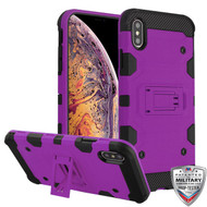 MyBat Storm Tank Hybrid Protector Cover [Military-Grade Certified] for Apple iPhone XS Max - Purple / Black