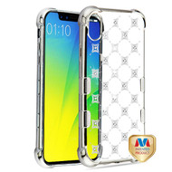 MyBat TUFF Klarity Candy Skin Cover (with Package) for Apple iPhone XS Max - Silver Plating & Cosmo Sparks with Diamond