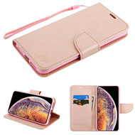 MyBat Liner MyJacket Wallet Crossgrain Series for Apple iPhone XS Max - Rose Gold Pattern / Rose Gold