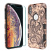 MyBat TUFF Lyte Hybrid Protector Cover (Tempered Glass Screen Protector) for Apple iPhone XS Max - Phoenix Flower (2D Rose Gold) / Black