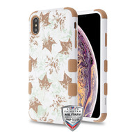 MyBat TUFF Hybrid Protector Cover [Military-Grade Certified] for Apple iPhone XS Max - Misty Maple / Taupe
