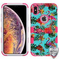 MyBat TUFF Hybrid Protector Cover [Military-Grade Certified] for Apple iPhone XS Max - Tropical Flamingo / Electric Pink