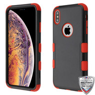 MyBat TUFF Hybrid Protector Cover [Military-Grade Certified] for Apple iPhone XS Max - Natural Black / Red