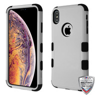 MyBat TUFF Hybrid Protector Cover [Military-Grade Certified] for Apple iPhone XS Max - Natural Gray / Black
