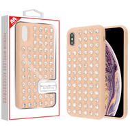 MyBat Dazzling Diamond Candy Case for Apple iPhone XS Max - Rose Gold