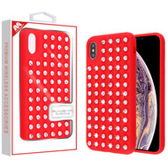 MyBat Dazzling Diamond Candy Case for Apple iPhone XS Max - Red