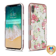 MyBat TUFF Panoview Hybrid Protector Cover for Apple iPhone XS Max - Metallic Rose Gold / European Rose Diamante
