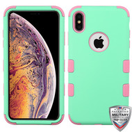 MyBat TUFF Hybrid Protector Cover [Military-Grade Certified] for Apple iPhone XS Max - Mint / Soft Pink
