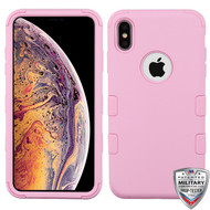 MyBat TUFF Hybrid Protector Cover [Military-Grade Certified] for Apple iPhone XS Max - Soft Pink / Soft Pink