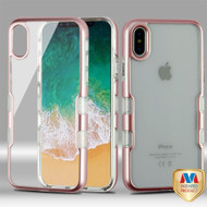 MyBat TUFF Panoview Hybrid Protector Cover for Apple iPhone XS/X - Metallic Rose Gold / Transparent Clear