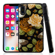 MyBat Fusion Protector Cover for Apple iPhone XS/X - Lucky Flowers Gel / Black Glitter