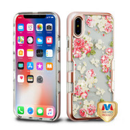 MyBat TUFF Panoview Hybrid Protector Cover for Apple iPhone XS/X - Metallic Rose Gold / European Rose Diamante