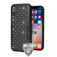 MyBat TUFF Contempo Hybrid Protector Cover for Apple iPhone XS/X - Black / Black FullStar