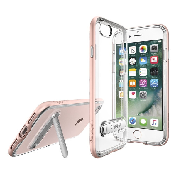 Apple iPhone 7 / iPhone 8 Spigen Crystal Hybrid Case With Kickstand - Rose Gold