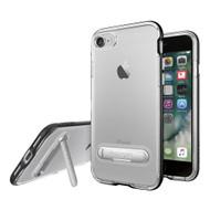 Apple iPhone 7 / iPhone 8 Spigen Crystal Hybrid Case With Kickstand - Black