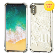MyBat SPOTS Electroplated Premium Candy Skin Cover for Apple iPhone XS/X - Silver Glassy Great Seal
