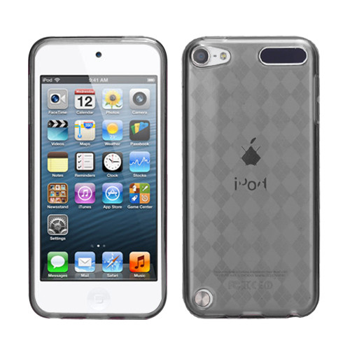 MyBat Argyle Pane Candy Skin Cover for Apple iPod touch (5th generation) - Smoke