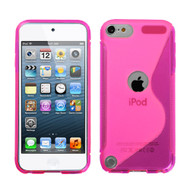 MyBat Candy Skin Cover (S Shape) for Apple iPod touch (5th generation) - Hot Pink