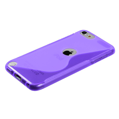 MyBat Candy Skin Cover (S Shape) for Apple iPod touch (5th generation) - Purple