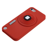 MyBat Camera Style Stand Pastel Skin Cover (with Lanyard) for Apple iPod touch (5th generation) - Red