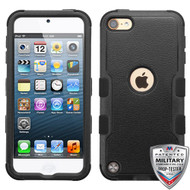 MyBat TUFF Hybrid Protector Cover [Military-Grade Certified] for Apple iPod touch (6th generation) - Natural Black / Black