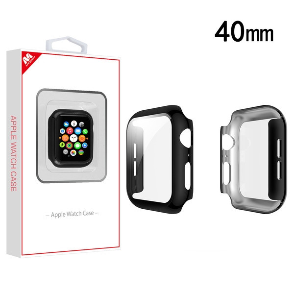 MyBat Fusion Protector Case (with Tempered Glass Screen Protector) for Apple Watch Series 4 40mm - Electroplated Black