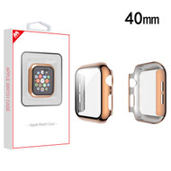 MyBat Fusion Protector Case (with Tempered Glass Screen Protector) for Apple Watch Series 4 40mm - Electroplated Rose Gold