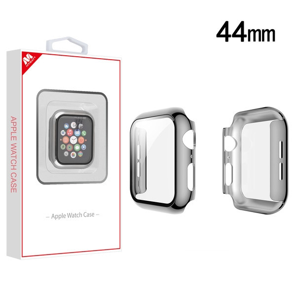 MyBat Fusion Protector Case (with Tempered Glass Screen Protector) for Apple Watch Series 4 44mm - Electroplated Silver