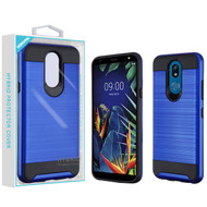 Asmyna Brushed Hybrid Protector Cover for Lg K40 - Dark Blue / Black