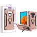 Asmyna Hybrid Protector Cover (with Ring Stand) for Lg K51 - Rose Gold / Black
