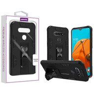 Asmyna Hybrid Case (with Stand) for Lg Reflect - Black / Black