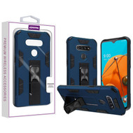 Asmyna Hybrid Case (with Stand) for Lg Reflect - Ink Blue / Black