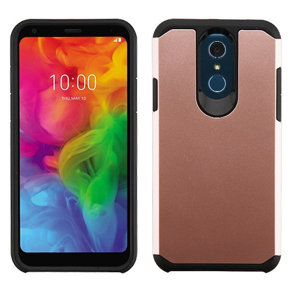 Asmyna Astronoot Protector Cover for Lg Q7+ - Rose Gold / Black