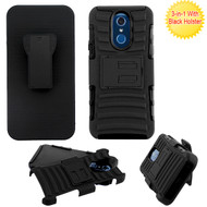 Asmyna Advanced Armor Stand Protector Cover Combo (with Black Holster) for Lg Q7+ - Black / Black