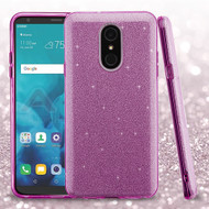 Asmyna Full Glitter Hybrid Protector Cover for Lg Stylo 4 - Purple