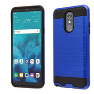 Asmyna Brushed Hybrid Protector Cover for Lg Stylo 4 - Dark Blue / Black