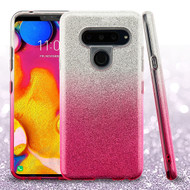 Asmyna Gradient Glitter Hybrid Protector Cover for Lg V40 ThinQ - Pink
