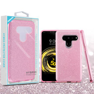 Asmyna Full Glitter Hybrid Protector Cover for Lg V50 ThinQ - Pink