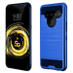 Asmyna Brushed Hybrid Protector Cover for Lg V50 ThinQ - Dark Blue / Black