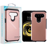 Asmyna Astronoot Protector Cover for Lg V50 ThinQ - Rose Gold / Black