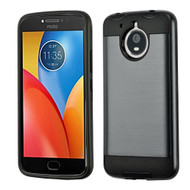 Asmyna Brushed Hybrid Protector Cover for Motorola XT1773 (Moto E4 Plus) - Ink Blue / Black