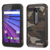 Asmyna Astronoot Protector Cover for Motorola Moto G (3rd gen.) - Camouflage Gray Backing / Black
