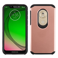 Asmyna Astronoot Protector Cover for Motorola Moto G7 Play - Rose Gold / Black