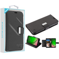 Asmyna MyJacket Wallet Xtra Series for Motorola Moto G7 Play - Black / Black